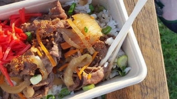 Beef rice bowl from Donburi Station