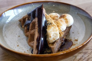 S'more ice-cream sandwich at Mayday cafe in Richmond.
