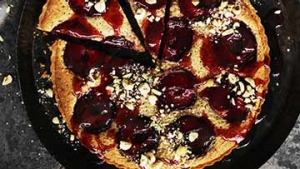Neil Perry's nutty plum tart.