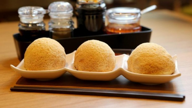 Tim Ho Wan's baked barbecue pork buns.