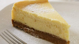 White chocolate cheesecake.