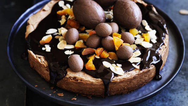 Old and new: Chocolate and almond Easter cake.