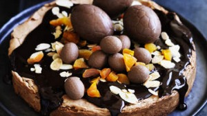 Chocolate and almond Easter cake.