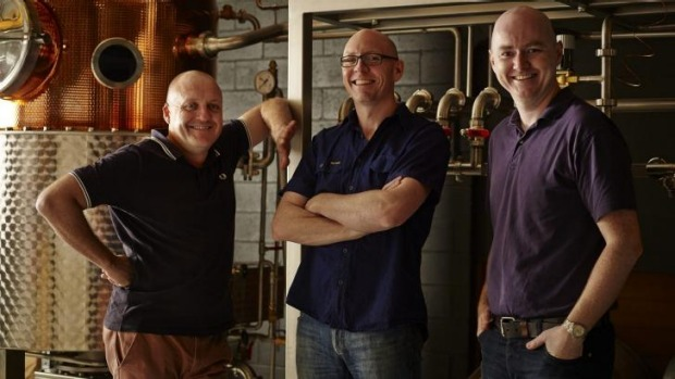 From left to right: Four Pillars co-founders Stu Gregor, Cam MacKenzie and Matt Jones.