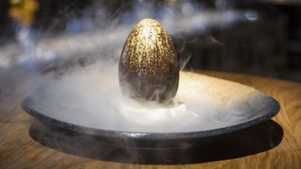Sake's dragon egg dessert makes its Melbourne debut this weekend as part of the Easter tasting menu ($100).