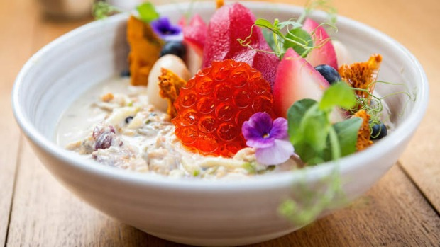 Does breakfast taste better when it's this pretty? Yes! The bircher at Three Monkeys Place.