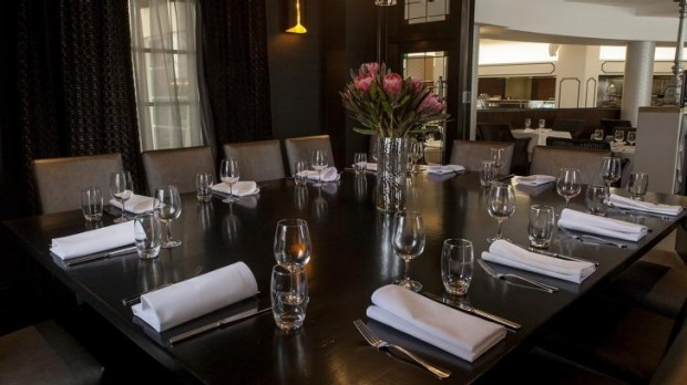 One of two private rooms at Rawsons restaurant in the Epping Club.