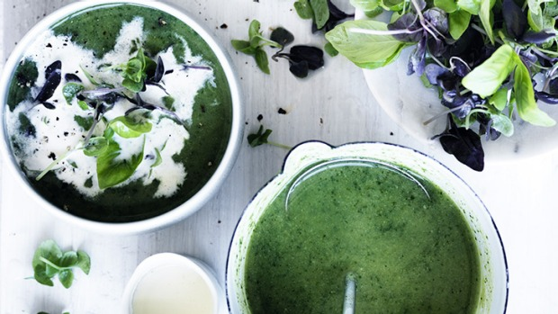 This feel-good soup is made with stock, cream, green vegetables and fresh herbs.