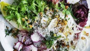 Radicchio salad with anchovy dressing.