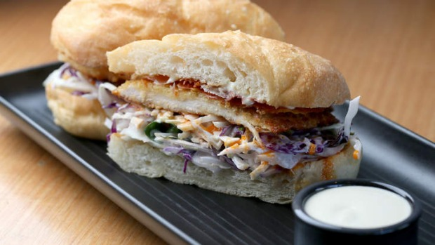 Dirty Chook roll with blue cheese sauce.