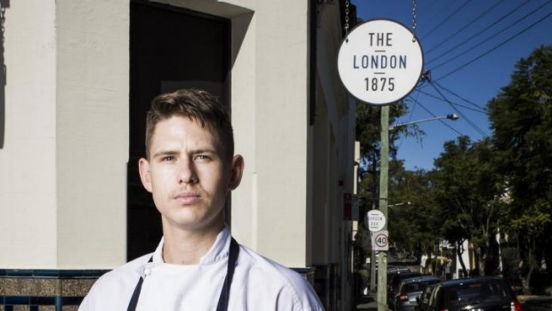 Chef Jack Steer at The London Hotel.
