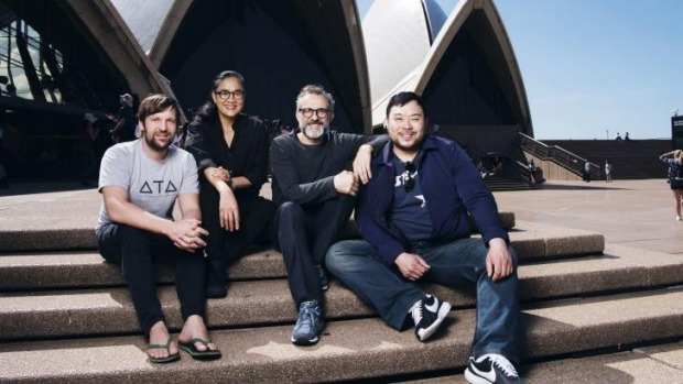 Chefs Rene Redzepi, Kylie Kwong, Massimo Bottura and David Chang spoke at the sold-out MAD Syd event.