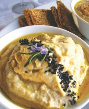 Anthea Amore's raw cashew hummus makes a healthy snack or starter.