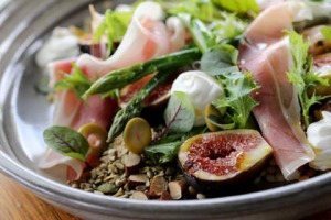 Backyard figs and fregola salad served at  Middle Street Food & Coffee in Melbourne.
