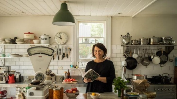 Cookbook author Michelle Crawford at home.