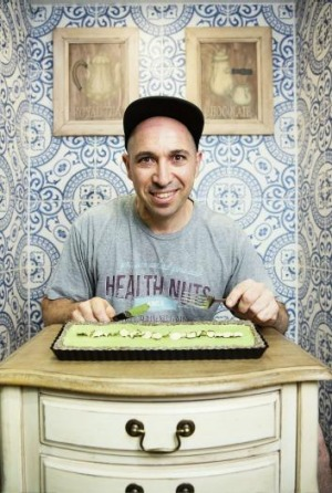 Elie Rochelle at his Health Nuts Cafe.