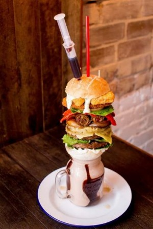 """The """"Plantbased Disgrace"""" burger started as a prank."""