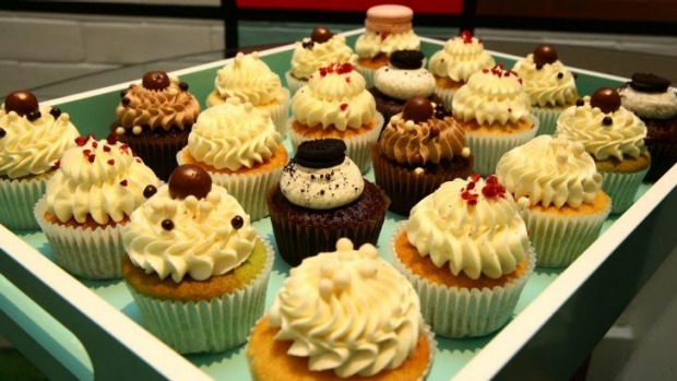 A tray of Bakedown Cakery's cupcakes, which span flavours such as lychee raspberry and rose, cookies and cream and ...