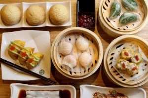 A selection of dishes at Tim Ho Wan in Melbourne.
