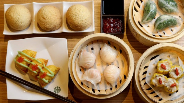 A selection of dim sum at Tim Ho Wan.