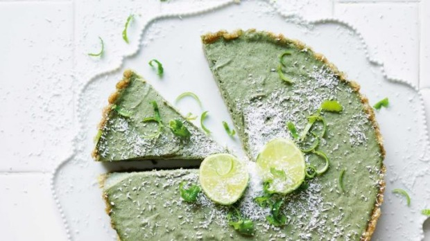 The key lime pie from The Naked Vegan cookbook.