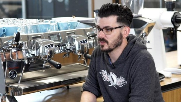 Craig Simon from Veneziano Coffee, Melbourne, is a two-time Australia barista champion.