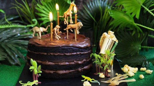 Kids will go wild for this chocolate cake.