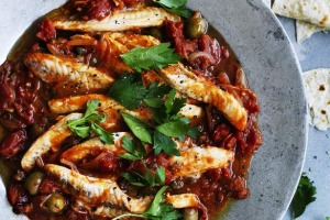 Down Mexico way: Fish fillets in Veracruz-style sauce.