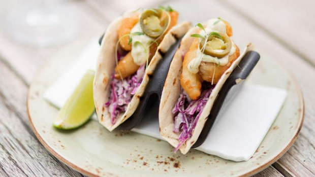 A pair of fried whiting tacos will set you back $24.