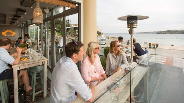 The outside deck at North Bondi Fish.