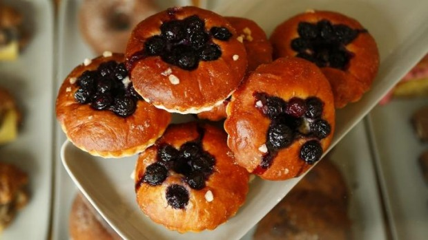 El Chapel's pastry experiments include the blueberry morning buns.