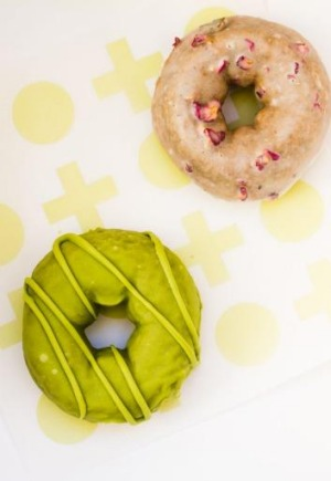 Even doughnuts have had a matcha makeover at Shortstop: Triple matcha and Earl Grey and rose.