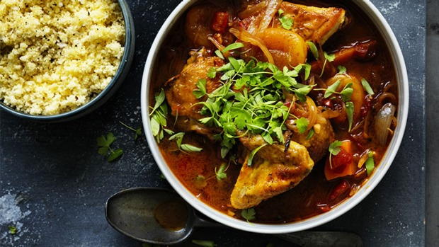Chicken tagine with mango and apricot recipe good food adam liaws beginners chicken tagine forumfinder Choice Image