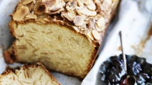 Toasted almond madeira cake.