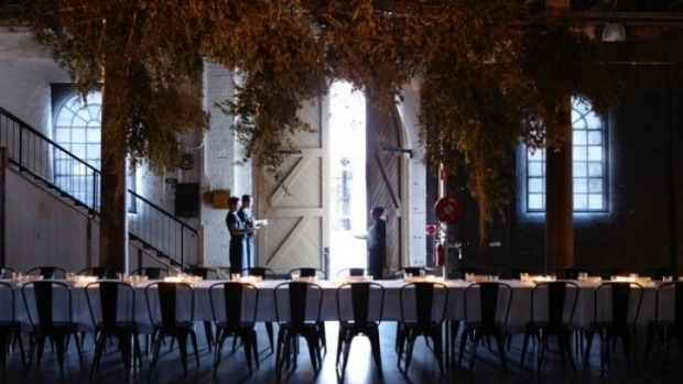 Carriageworks has been the dramatic backdrop for previous events such as The Elston Room Chance Dinner.