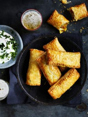 Go easy on the spice for these simple vegetarian samosas.