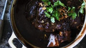 Braised beef shin with chilli and black vinegar.