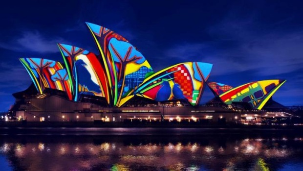 The Sydney Opera House will be lit up from 6pm tonight as part of Vivid Sydney 2016.