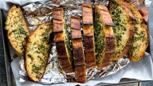Add some heat to an old classic: Chilli garlic bread.