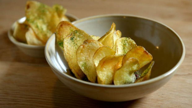 Go-to dish: Blood butter with potato crisps, chive and bay.