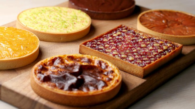 A selection of symmetrical tarts.
