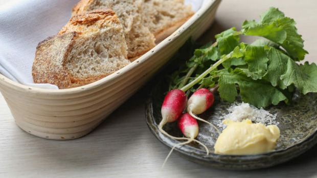 Bread, butter and breakfast radishes.