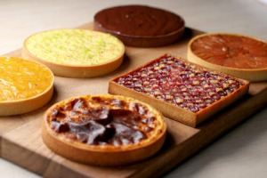 A selection of tarts served at Oter restaurant in Melbourne.