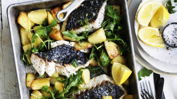 Adam Liaw's winter fish and chips.