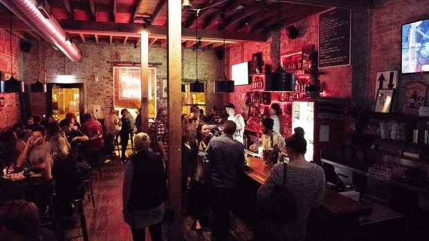 Surly's in Surry Hills has big cushy bar stools and offers a good time.