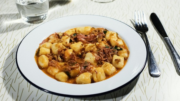 Gnocchi with turkey.