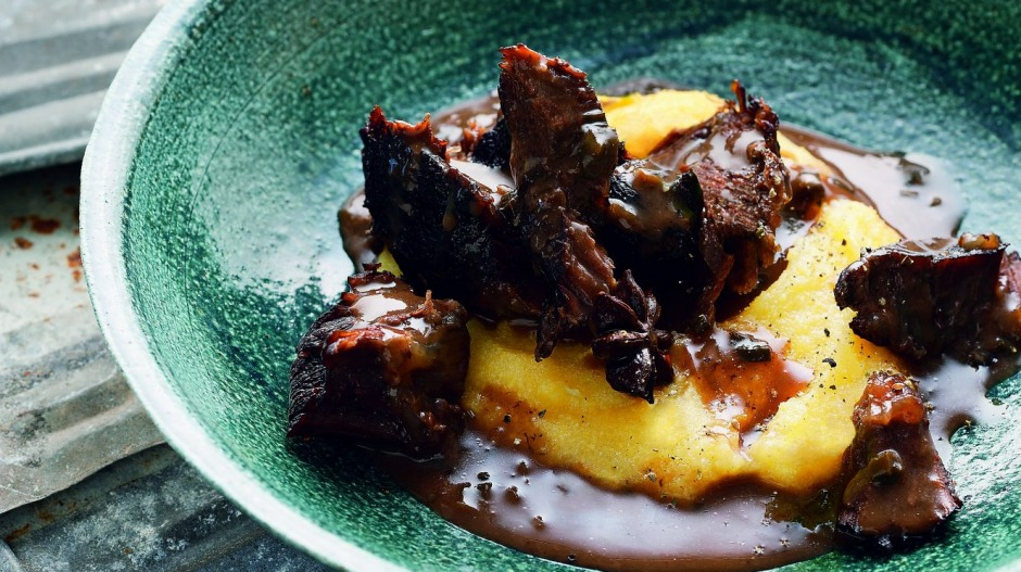 Tummy friendly: Braised beef cheeks with creamy polenta.