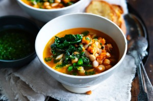 Neil Perry's minestrone with bacon.