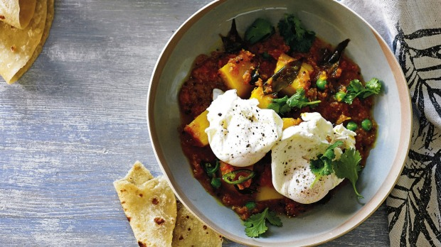 Breakfast curry has just the right amount of spice to kick-start your day.