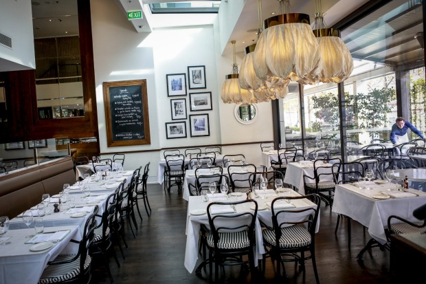 Pantaloon light fittings feature inside Bistro Guillaume at Crown.